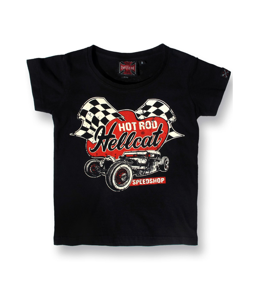 Custom Skull Hot Rod Car Rockabilly Kids T Shirt