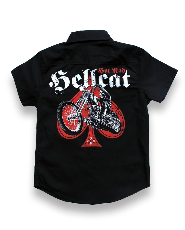 SKULL BIKER Boy Work shirt
