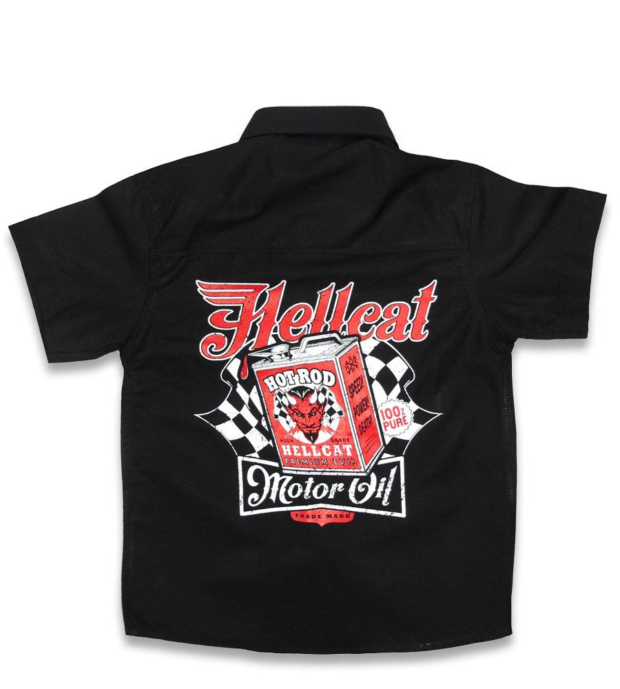 Motor Oil rockabilly kid's work shirt
