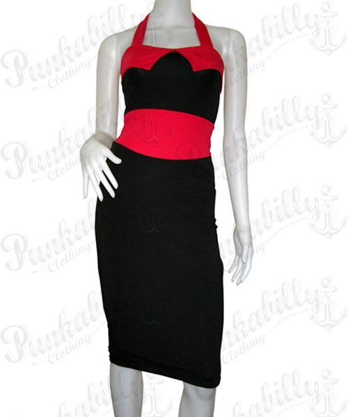Black Pin Up rockabilly dress