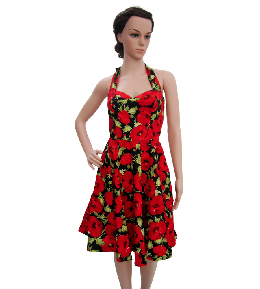 Pin Up Flowers Dress