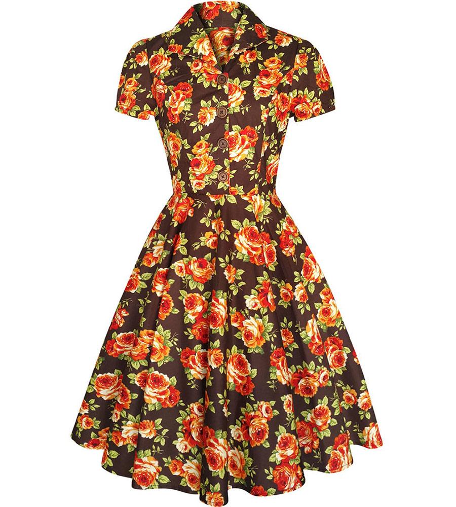 Vintage Inspired Tea Dress