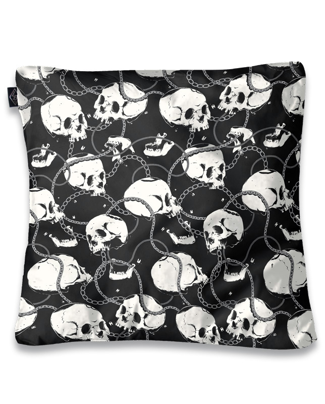 Skull & Chains Pillow Cover