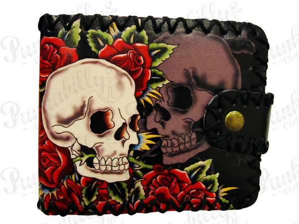 Skulls & Rosses Punk Rockabilly Wallet