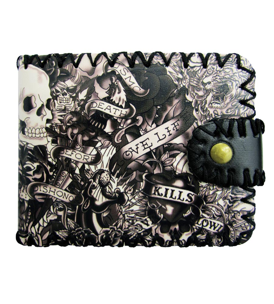 Black & White Tattoo Design Wallet