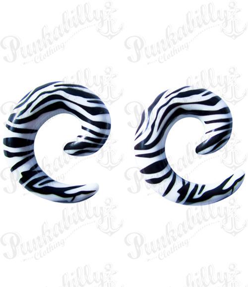 Spiral Taper Zebra print