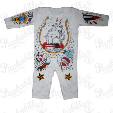 Rockabilly Baby Onesie with Tattoo prints