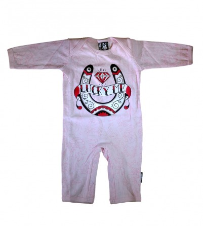 "Pink ""Lucky Me"" Baby Onesie"