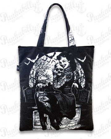 GRAVEYARD CHICK Canvas Totebag