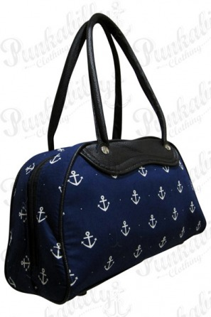 Navy Blue Anchor bowling bag