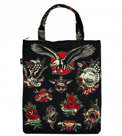 Flash Design Black Canvas Bag