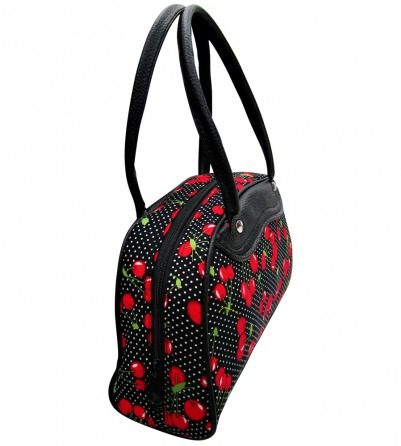 Polka dots and Cherry print Bowling Bag