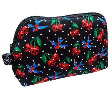Cherries & Skulls Liquor Brand Purse