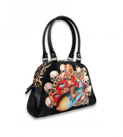 Lady Luck with Leopard print Bowling Bag