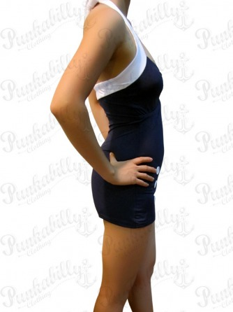 Navy Blue Vintage Swimsuit