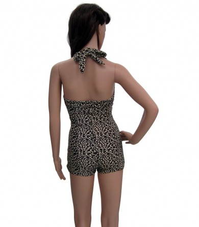 Leopard print Rockabilly bathing suit