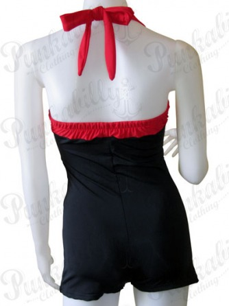 Vintage Rockabilly Black Swimwear