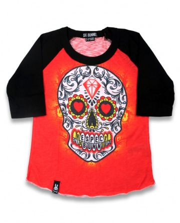 Tattoo Skull Red Shirt