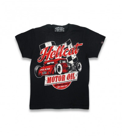 Hellcat Motor Oil rockabilly kid