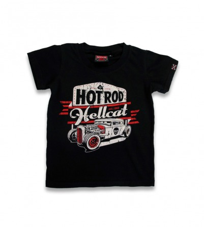 custom skull Hot Rod car rockabilly kid