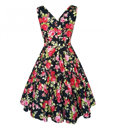 Pink & Red Roses Venus Dress