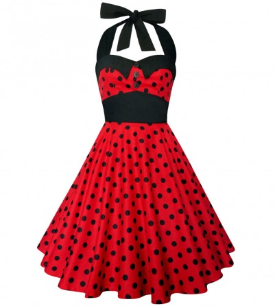 Red Dress with Black Polka Dots pinup dress