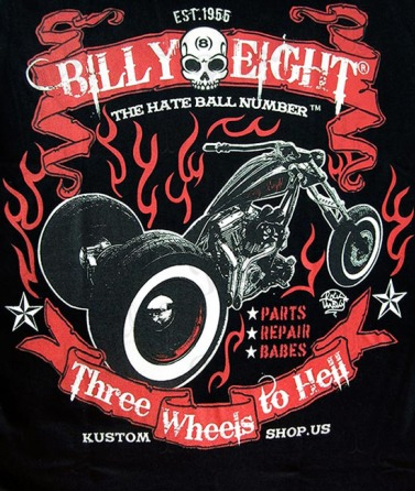 """Three Wheels to Hell"" T-Shirt"
