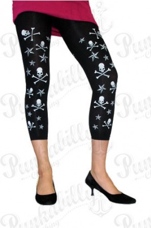 Nautical Stars & Crossbones Skulls Leggings.
