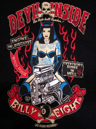 """Devil Inside"" Man Rockabilly T-Shirt"
