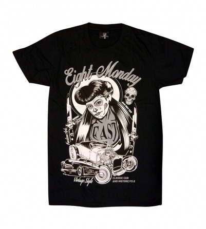 Eight Monday Tattoo Girl T-Shirt