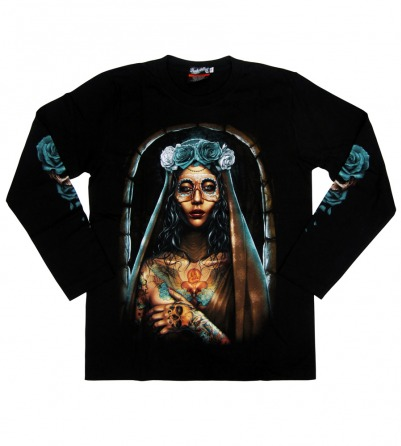 Maria Tattoo Long Sleeves Men Shirt