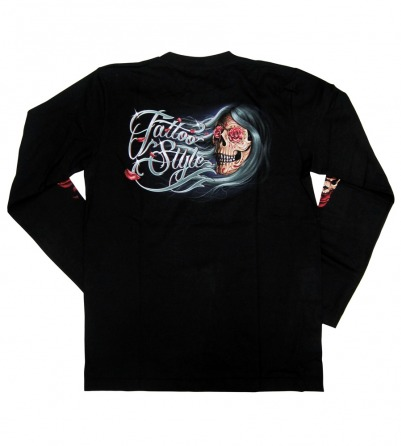 Tattooed Lady Long Sleeves Men Shirt