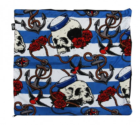 Sailor Skulls Pillow Cover