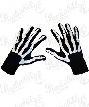 Black and White Skeleton Gloves