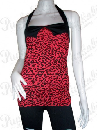 Red Leopard Rockabilly Tank Top