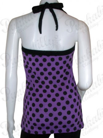 Purple Polka Dot Rockabilly Tank Top