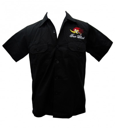 """HEELBENT FOR SPEED"" Embroidered Work Shirt"