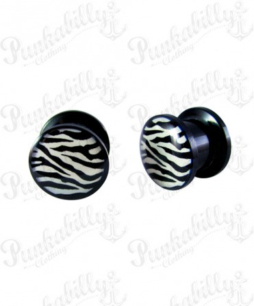 Black & White Zebra Plug