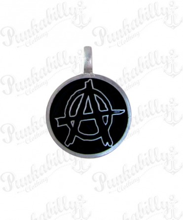 Black Anarchy Round Pendant