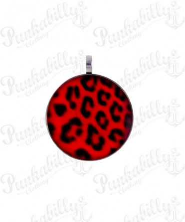 Red Leopard Stainless steel Pendant