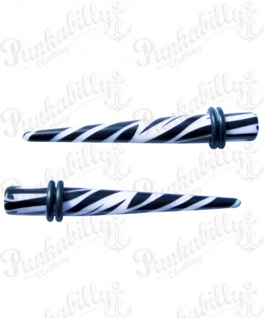 White & Black Zebra Taper Expander