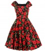 Red Roses Tea Party Dress
